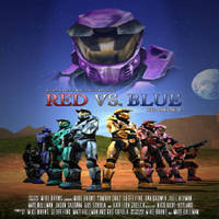 Red vs blue posterw300h373